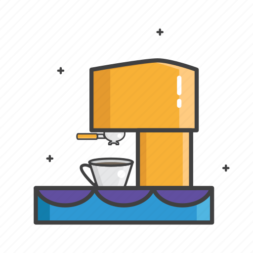 a cup of coffee, barista, cofee machine, coffee, coffeeshop, cup, general icon