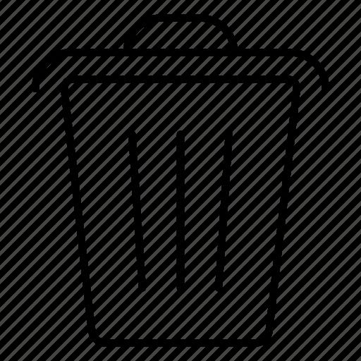 delete, dustbin, erase, garage, minus, recycle, trash icon