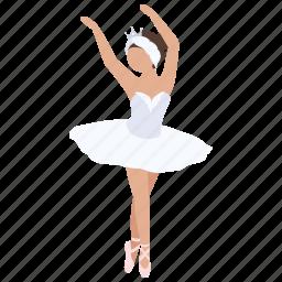 ballerina, ballet, dance, dancer, studio. pirhouette, tutu icon