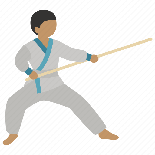 bo, jujutsu, martial arts, sparring, staff, training icon
