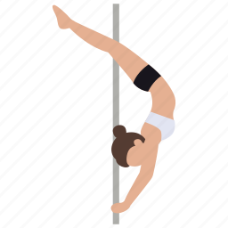 dancer, exercise, exotic, fitness, pole, pole dancing, stripper icon