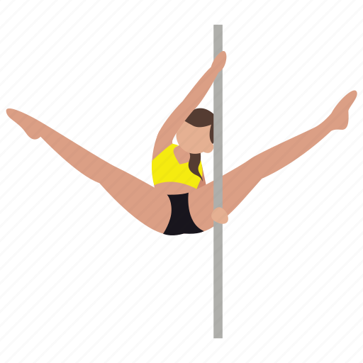 Dancer, exercise, exotic, pole, pole dancing, stripper, studio icon - Download on Iconfinder