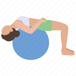 aerobic, ball, exercise, fitness, gym, stretching, workout icon