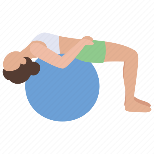 Aerobic, ball, exercise, fitness, gym, stretching, workout icon - Download on Iconfinder
