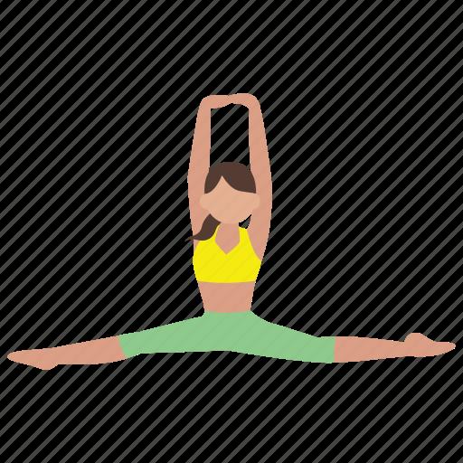 Exercise, flexibility, flexible, gymnastics, splits, stretch, workout icon - Download on Iconfinder