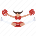 cheer, cheerleader, cheerleading, college, dance, high school, jump icon