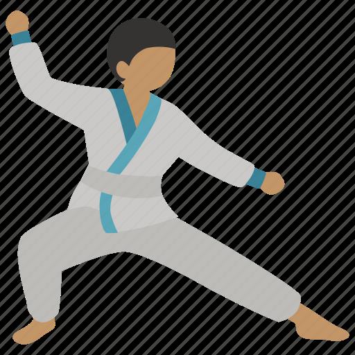 hapkido, judo, karate, martial, martial art, stance, taekwondo icon