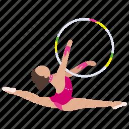 gymnast, gymnastics, hoop, olympic, rythmic, sport icon