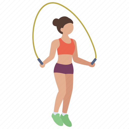 exercise, fitness, health, jump, rope, skip, skipping icon