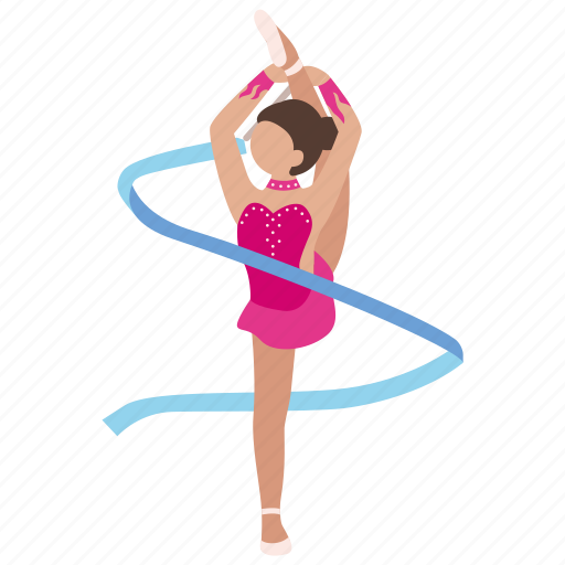 artistic, ballet, gymnast, gymnastics, olympics, ribbon, rythmic icon