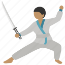 duel, fencing, jujutsu, kendo, martial art, sparring, sword icon