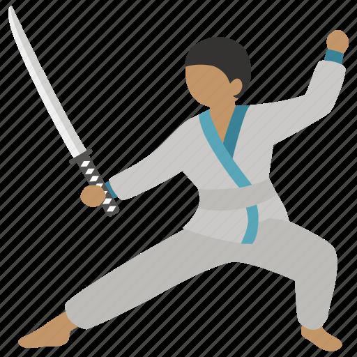 duel, fencing, jujutsu, kendo, martial art, sparring, sword icon