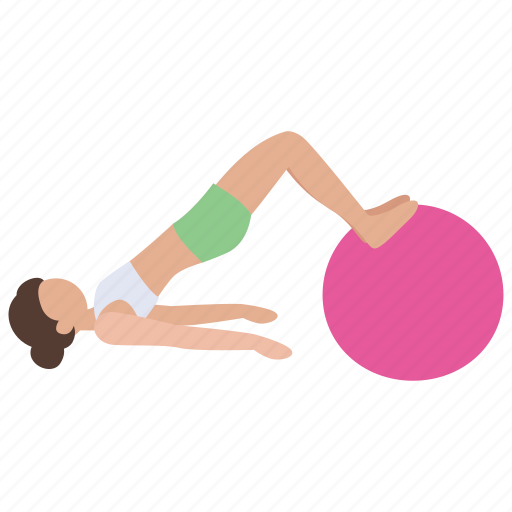 Aerobics, exercise, gym, gym ball, health, pilates, stretching icon - Download on Iconfinder
