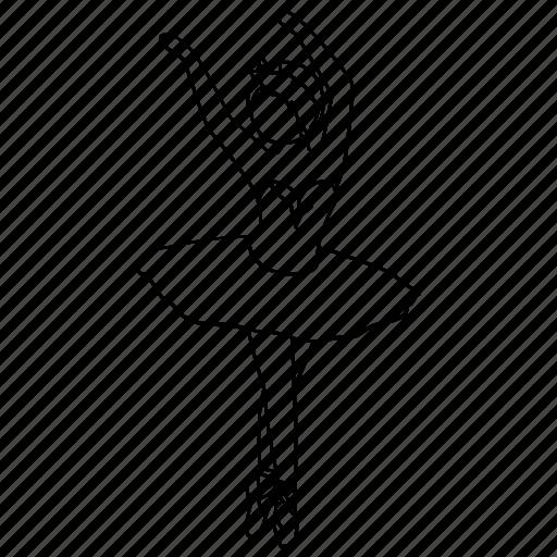 ballerina, ballet, classical, dance, dancer, pirhouette, tutu icon