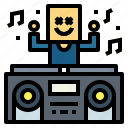 dj, festival, music, stage
