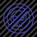 block, crime, danger, dead, death, entry, no, poison, sign, skull, symbol, trespass icon