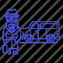 briefcase, detective, male, van, danger, window, investigator, crime, vehicle, mpv, detectives icon