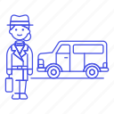 briefcase, detective, danger, crime, investigator, van, window, female, detectives, vehicle, mpv icon