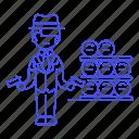 2, crime, criminals, danger, den, female, gangster, gun, machine, mafia, organized, weapon icon