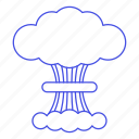 blast, bomb, cloud, crime, danger, explosion, nuclear, nuke, radiation, war icon