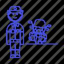 civil, danger, guard, officer, bike, enforcement, law, motorcycle, crime, female, police icon