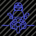 civil, danger, guard, officer, bike, enforcement, law, motorcycle, crime, biking, female, police icon