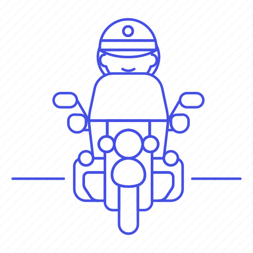 2, bike, biking, civil, crime, danger, enforcement, female, guard, law, motorcycle, officer, police icon