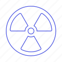 contamination, crime, danger, hazardous, nuclear, radiation, sign, symbol, toxic icon
