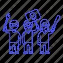 bandanna, baseball, bat, crime, criminals, danger, gang, hoodie, mask, protest, rioter, rioters, torch, vandals icon