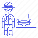 1, car, civil, crime, danger, enforcement, guard, law, male, officer, police, sheriff icon