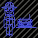 sheriff, officer, crime, enforcement, female, guard, car, danger, law, civil, police icon