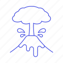 ash, cloud, crime, danger, disaster, disasters, eruption, event, lava, natural, volcanic, volcano icon