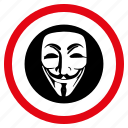 anonymous, avatar, hacker, hidden face, person, secret agent, spy icon