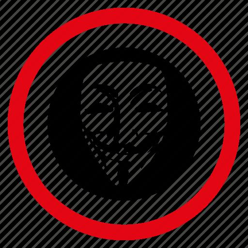 anonymous, avatar, hacker, hidden face, person, secret agent, spy icon