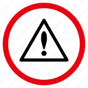 alarm, alert, attention, danger, error, exclamation, warning icon