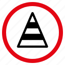 construction, danger, repair, road cone, safety, traffic, warning icon