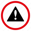 alert, attention, danger, error, exclamation, problem, warning icon