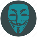 anonymous, avatar, hacker, man, person, profile, user icon