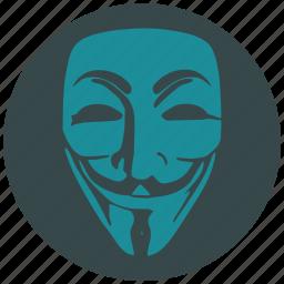 anonymous, avatar, hacker, man, person, profile, user icon