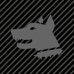 anrgy, danger, dog icon