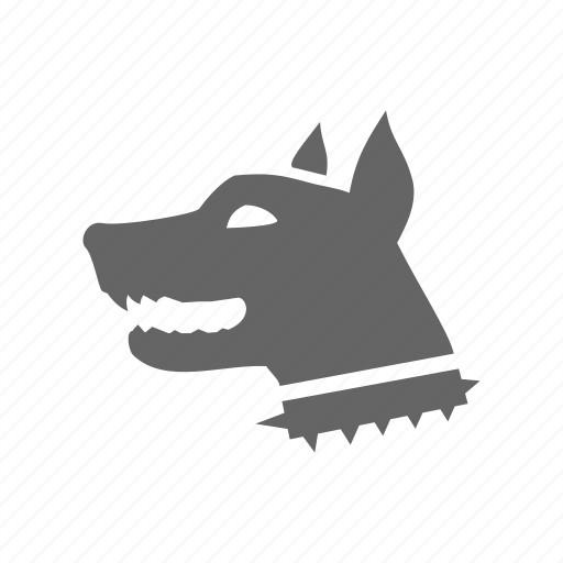 anrgy, danger, dog icon