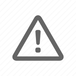 alert, attantion, danger, warning icon