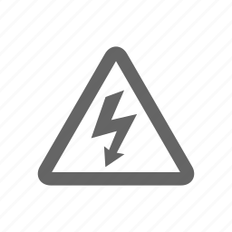 alert, electric, electricity, wanring icon