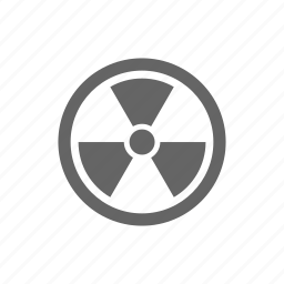 alert, radiation, warning icon