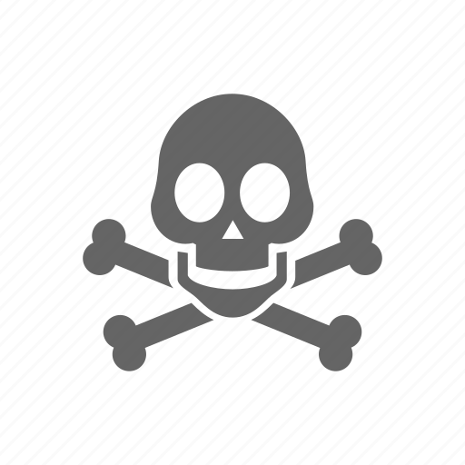 bones, danger, skull, warning icon