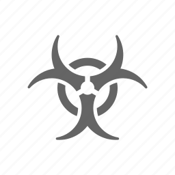biohazard, danger, warning icon