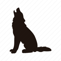 dog, howl, wolf, zoo icon