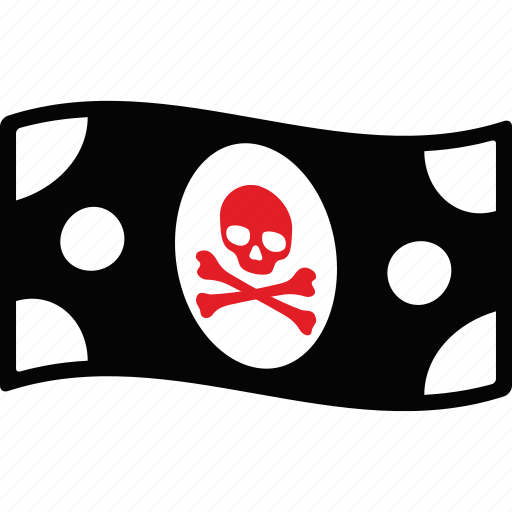 bank, banknote, cash, death, money, pirate, skull icon