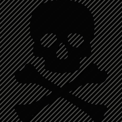 crossbones danger dead death evil skull toxic icon