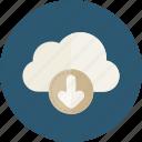arrow, down, download, interface, multimedia, option icon